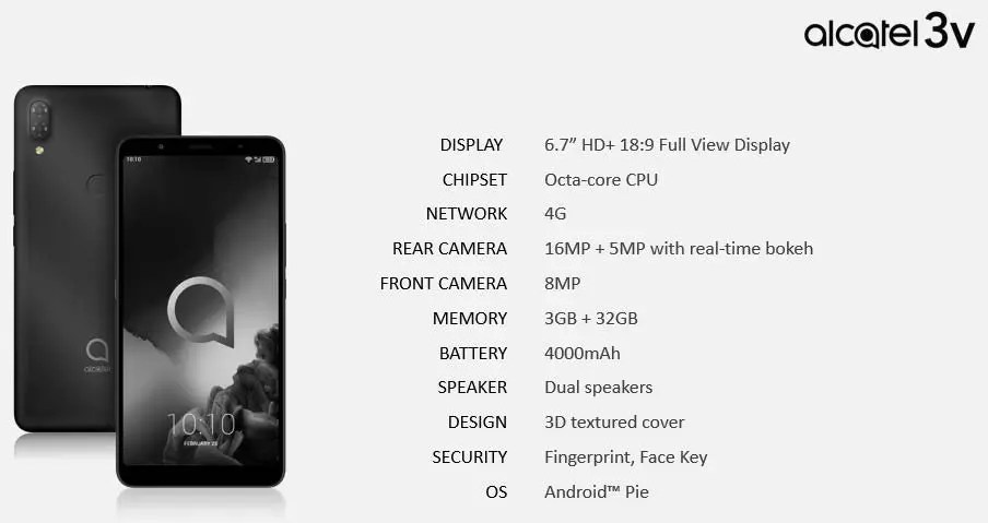 Linha de smartphones Alcatel 2019 revelada pelo suspeito do costume 8