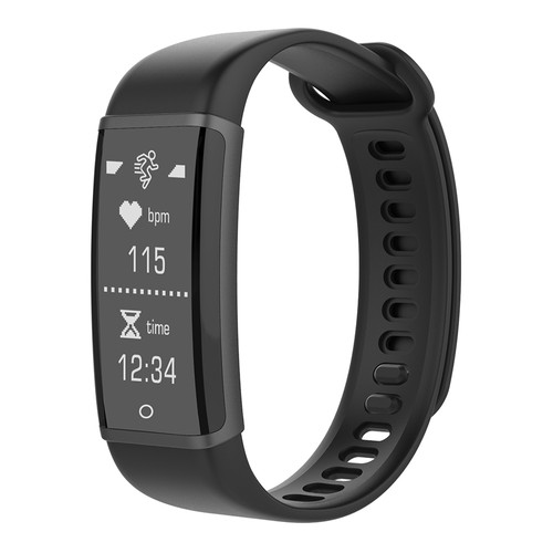 Lenovo HX03W Bluetooth 4.2 Smart Bracelet IP68 Heart Rate Monitor Pedometer Fitness Tracker For Android iOS - Black