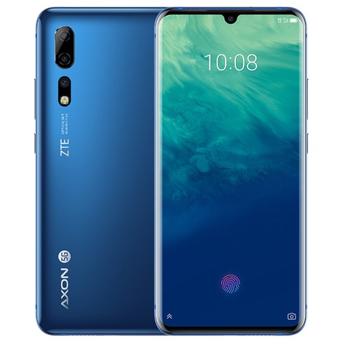 "ZTE Axon 10 Pro 5G Smartphone 6.47"" FHD+AMOLED Screen Snapdragon 855 6GB 128GB 48.0MP+20.0MP+8.0M Three Rear Cameras 4000mAh Battery In-display Fingerprint Dual SIM Android 9.0 - Blue"