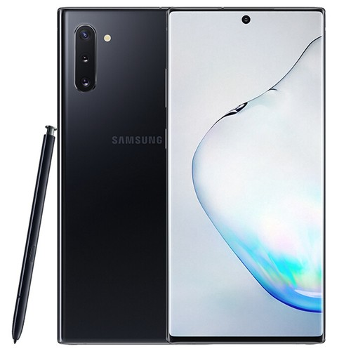Samsung Galaxy Note 10 CN Version 4G Smartphone 6.3 Inch Snapdragon 855 8GB 256GB 12.0MP+16.0MP+12.0MP Triple Rear Cameras NFC Fingerprint ID Dual SIM Android 9.0 (Black) + Original S Pen