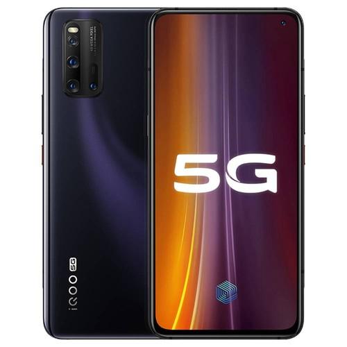 VIVO iQOO 3 CN Version 5G Smartphone 6.44 Inch FHD + Screen Qualcomm Snapdragon 865 Octa Core 12GB RAM 128GB ROM 48.0MP + 13.0MP + 13.0MP + 2.0MP Quad Rear Camera 4440mAh Battery Android 10.0 - Black