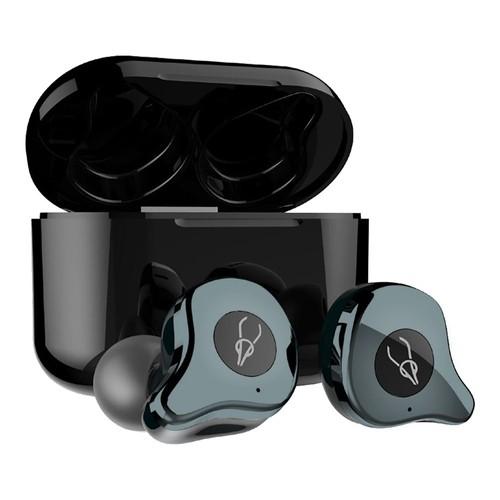 Sabbat E12 Ultra Qualcomm QCC3020 CVC8.0 TWS Earbuds QI Wireless Charging Independent Use aptX/AAC/SBC Siri Google Assistant IPX5 - Gunmetal