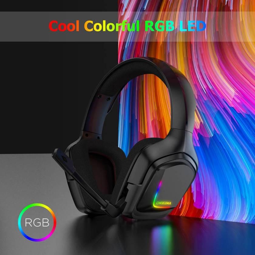 Onikuma K20 RGB Light Gaming Headset HD Stereo Black