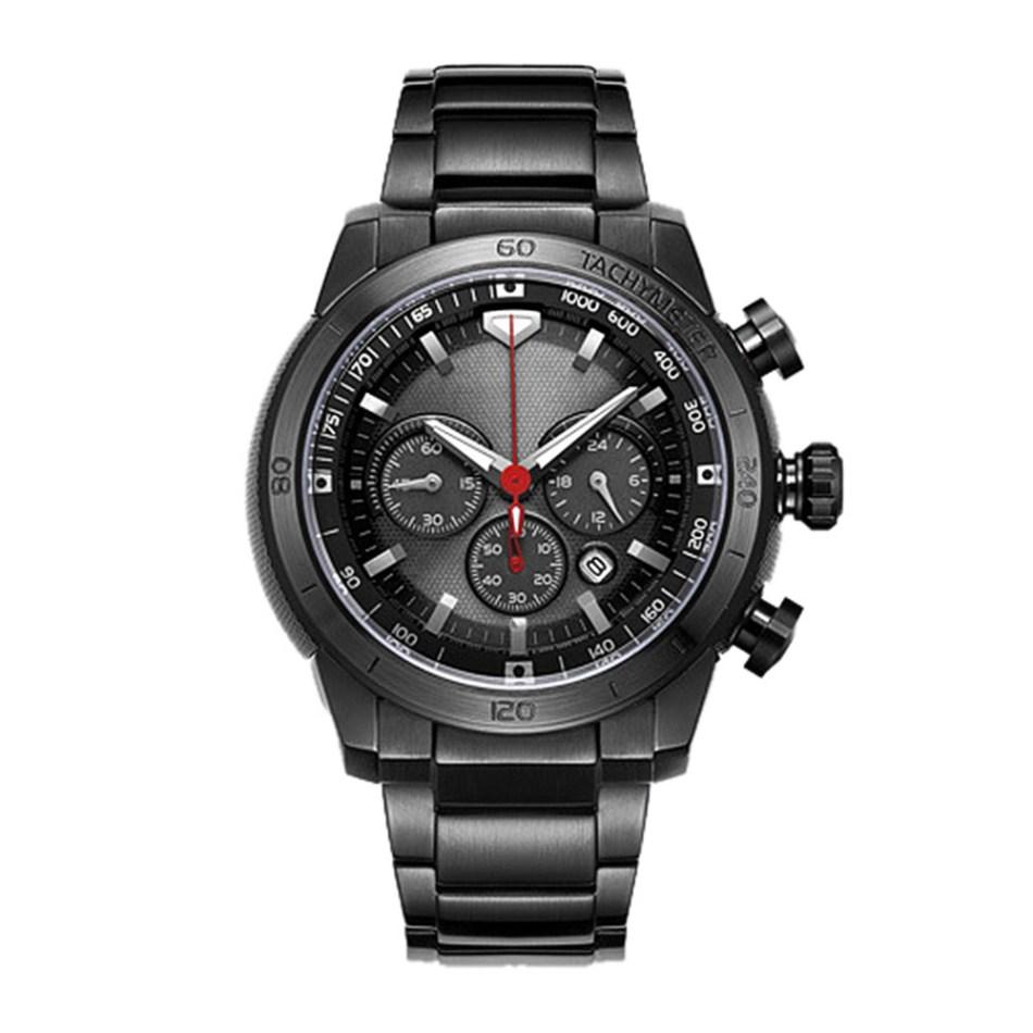 Xiaomi Youpin TwentySeventeen Men Stainless Steel Solar Watch - Black