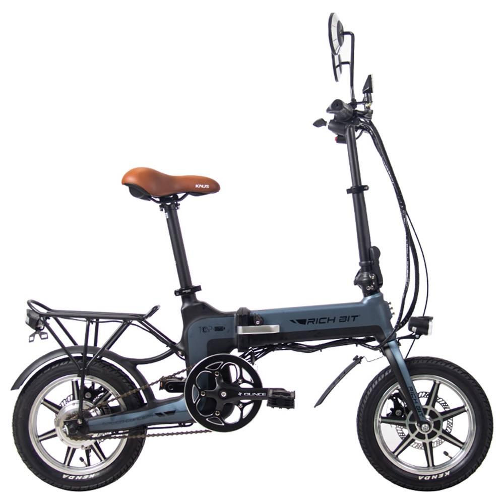 RICH BIT TOP-619 Folding Electric Moped Bike 250W Motor Gray