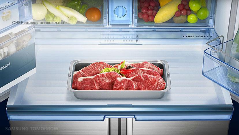 Hasil gambar untuk meat on refrigerator