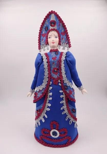 Кукла сувенирная фарфоровая Девушка в русском народном ...