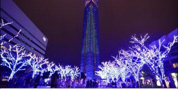 [九州景點] 九州戀愛聖地~福岡塔,越夜越美麗~整個福岡塔就是聖誕樹 (含交通資訊)