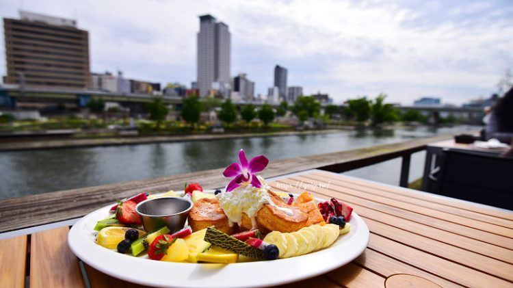大阪北浜河岸咖啡館NORTHSHORE,必吃熱帶水果鬆餅夢幻早餐/下午茶