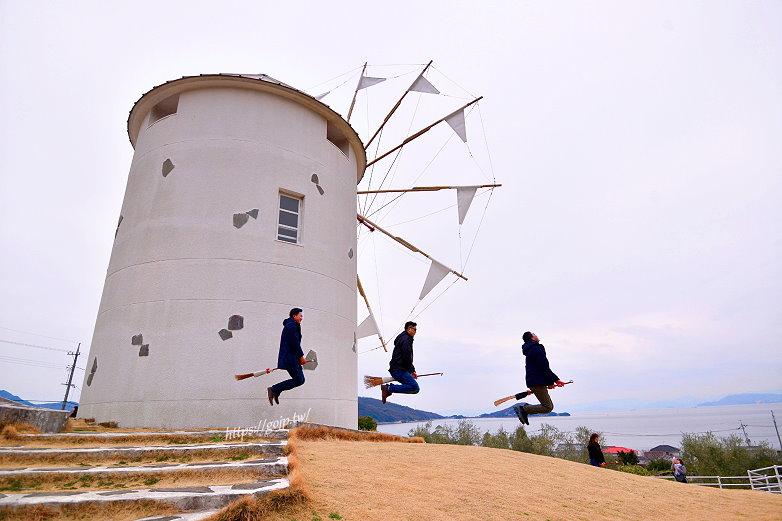 小豆島免費景點~小豆島橄欖公園,抓緊魔女宅急便魔法掃把飛天去!!