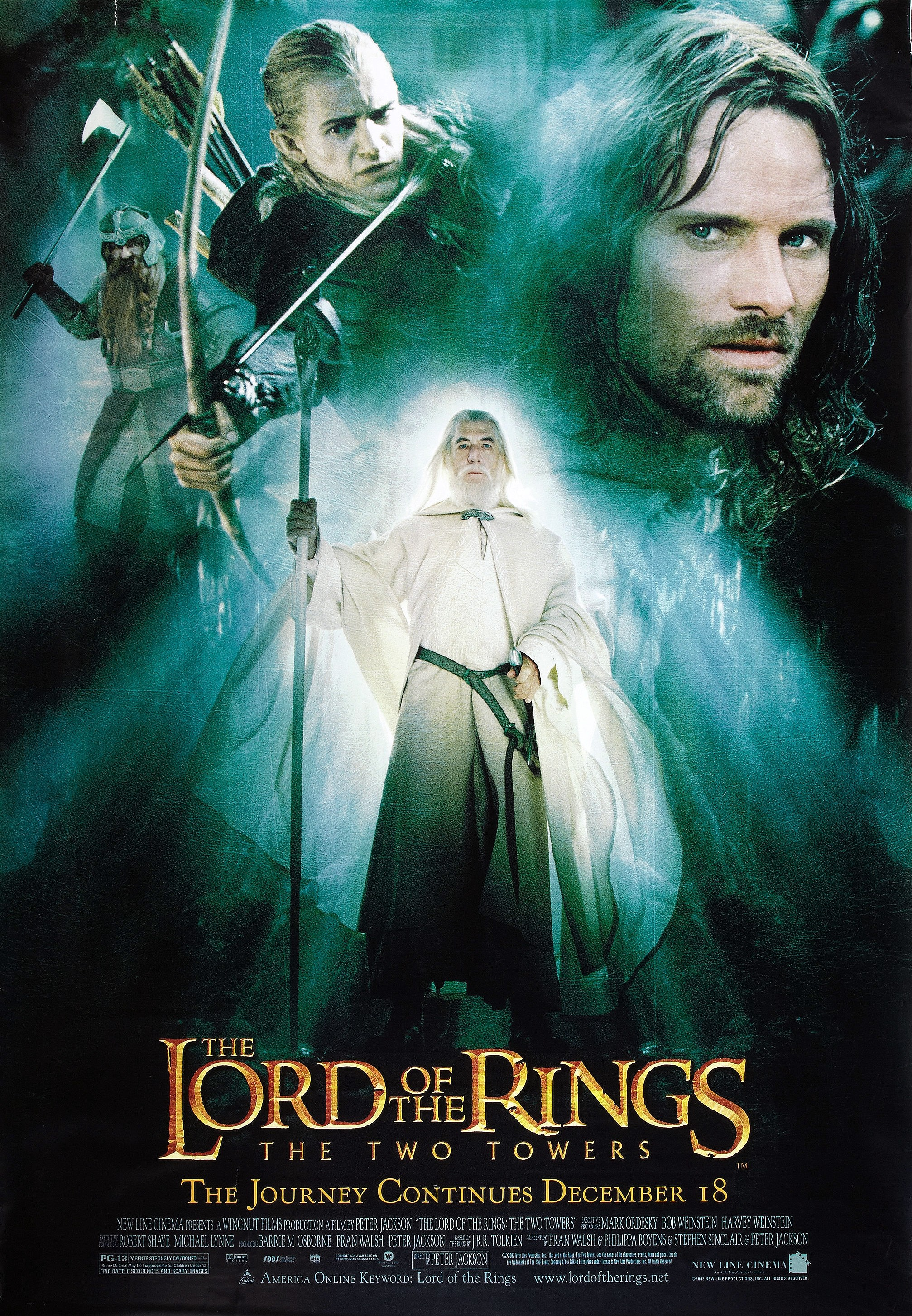 Image result for lord of the rings two towers poster