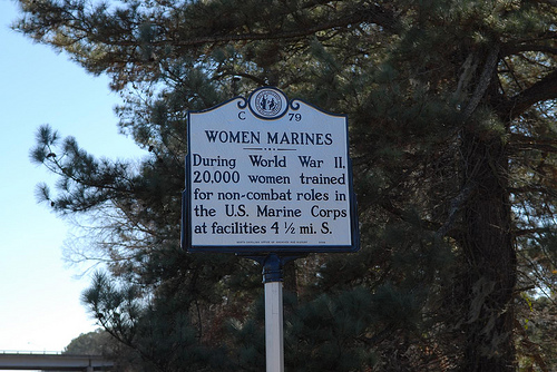 WWII Women Marines were trained in North Carolina