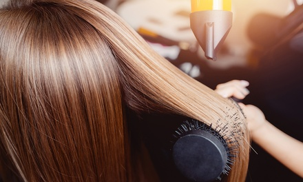 Cut, Wash and Blow Dry with Optional Treatment and Roots Colour at Glamours Touch Ladies Salon (Up to 59% Off)