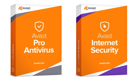 2 anni di protezione antivirus Avast Pro 2018 o Internet Security 2018 validi per 3 PC
