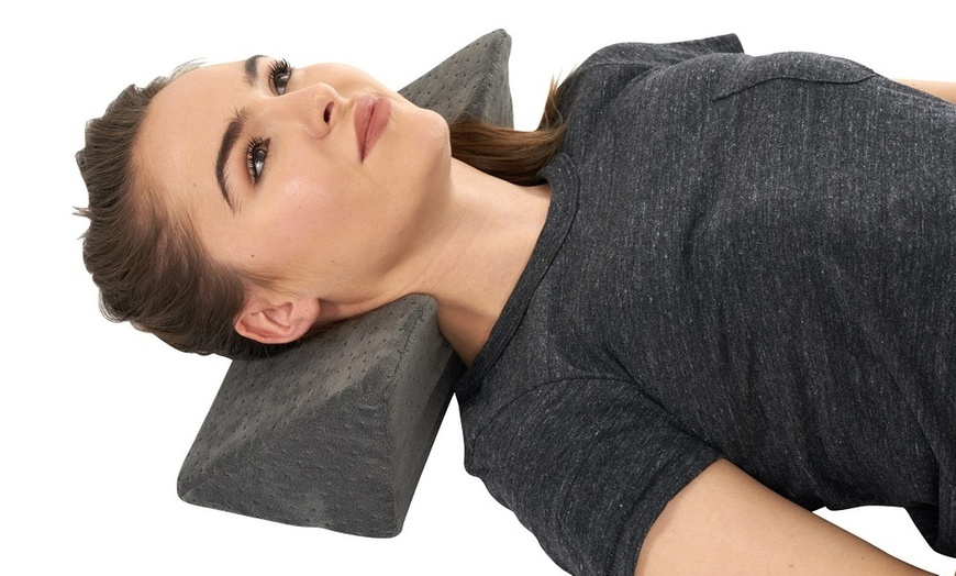 cervical neck and shoulder traction chiropractic wedge pillow
