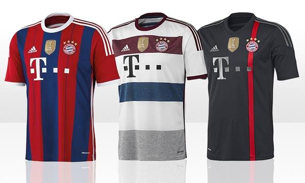 adidas trikot fc bayern 2014 15 heim auswarts champions league oder manuel neuer inkl versand ab 39 95