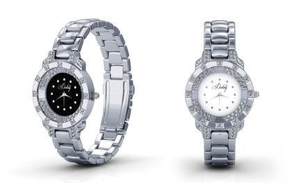 Orologio con cristalli Swarovski® disponibile in 2 colori