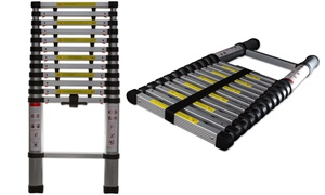 image for 12.5' Telescoping Aluminum Extension Ladder