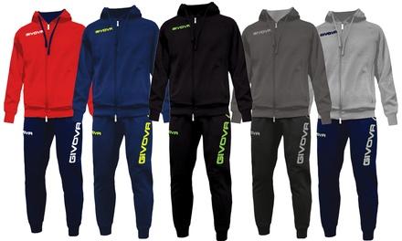Tuta con felpa e pantalone King Givova disponibile in vari colori e taglie