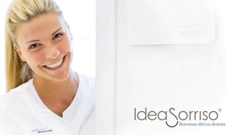Visita odontoiatrica, pulizia dentale e sbiancamento led disponibile presso le cliniche IdeaSorriso (sconto fino al 75%)