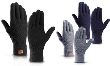 One, Two or Three Pairs of Unisex Diamond Thermal Touchscreen Gloves