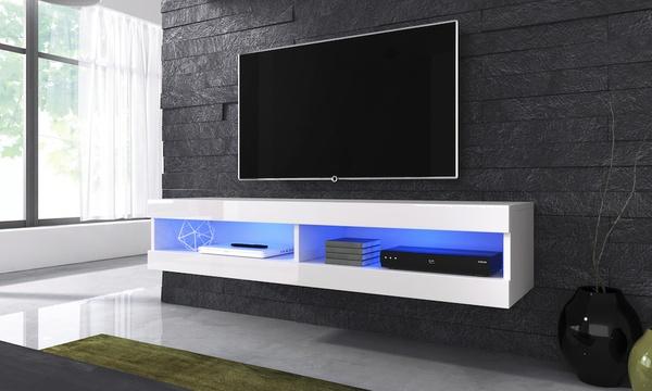 meuble tv mural avec ou sans led livraison offerte