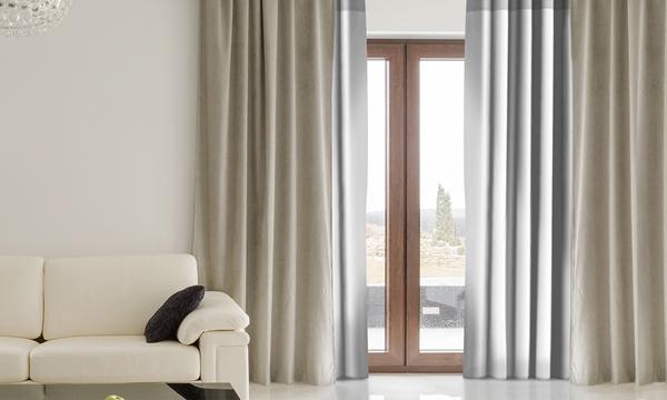 1 2 ou 4 doublures thermiques et isolantes pour rideau