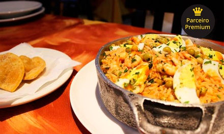 Prato principal com risoto de camarão ou atum na brasa para 2 (opção com entrada e sobremesa) no Umas e Ostras   Tijuca