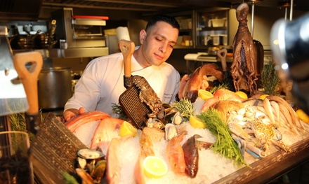 Seafood Buffet with Beverages for Up to Eight at Eat and Meat at 5* The H Dubai (Up to 56% Off)