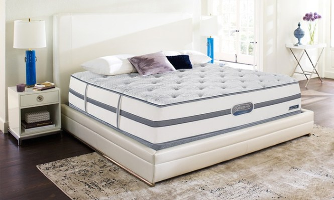Simmons Beautyrest Recharge Bays Plush Memory Foam Mattress Sets