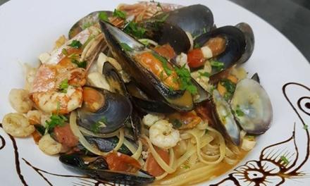 Menu di pesce alla carta con calice o bottiglia di vino allElite Ristorante   Pizzeria (sconto fino a 63%)
