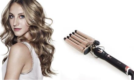 Piastra a 5 tubi per modellare i capelli con effetto mossi ed ondulati