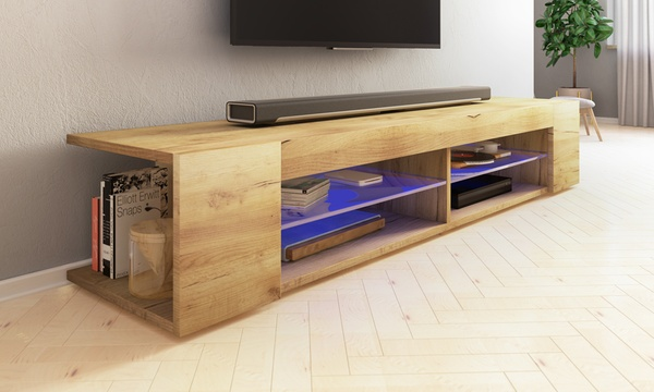 meuble tv mitchell led 137 ou 180 cm