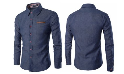Chemise style Jean à manches longues