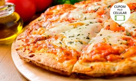1, 2 ou 4 pizzas gigantes na Vikings Hamburgueria e Pizzaria – Dom Joaquim