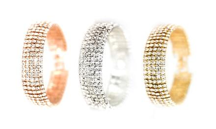 1, 2 ou 3 bracelets 5 rangs ornés de cristaux Swarovski®