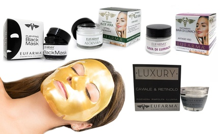 Fino a 3 creme viso Eufarma da 50 ml e maschere viso disponibili in varie tipologie