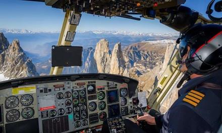 Esperienza di volo sulle Dolomiti per una persona con Grs Helicopter Service (sconto fino a 30%)