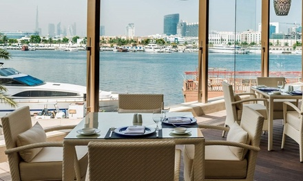 Brunch with Soft Beverages for Up to Four at Vivaldi Restaurant at 5* Sheraton Dubai Creek Hotel (Up to 58% Off)