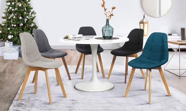 2 ou 4 chaises scandinaves gaida en tissu