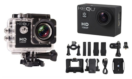 Action Cam Kequ Full HD resistente allacqua disponibili in 3 colori