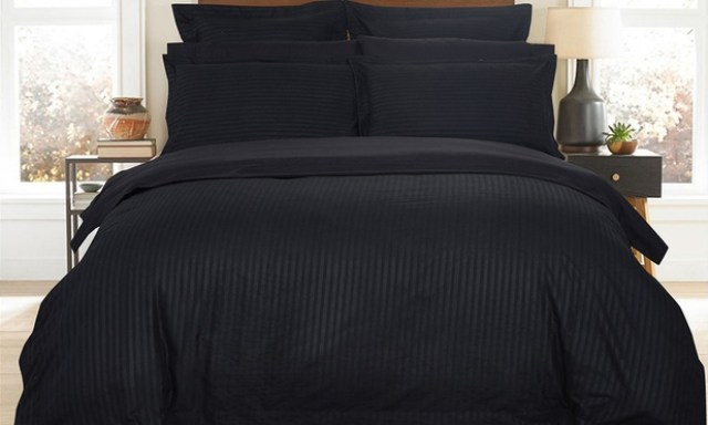 1000TC Ultra Soft Striped Quilt Cover Set: Queen ($39), King ($49) or Super King ($59)