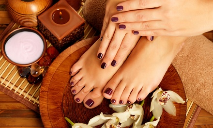 Classic or Gelish Manicure and Pedicure at Elite Style Beauty Spa (Up to 49% Off)