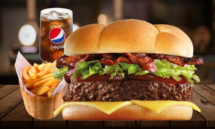 Burger, Fries and Soft Drink for Up to Six at Burger Hut (Up to 39% Off)