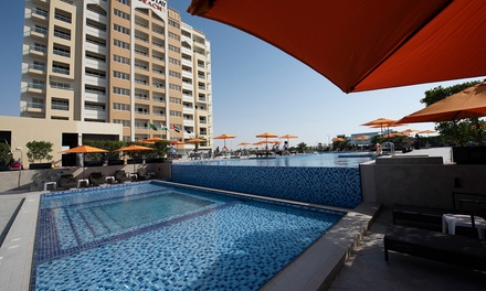 RAK: 1 Night Stay for 2 Adults and 1 Child with Half or Full Board at City Stay Beach Hotel Apartments