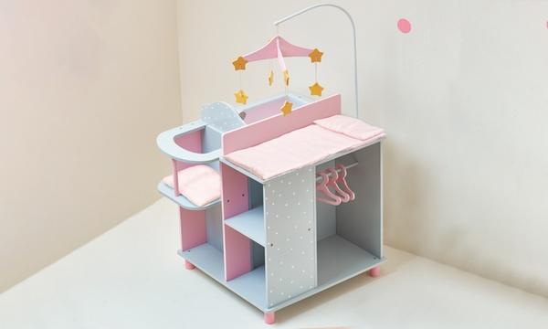 tables a langer pour poupon avec rangement collection olivia little world de teamson