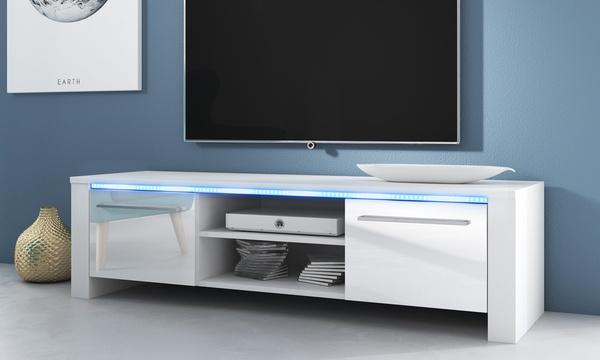 meuble tv messa avec eclairage led livraison offerte