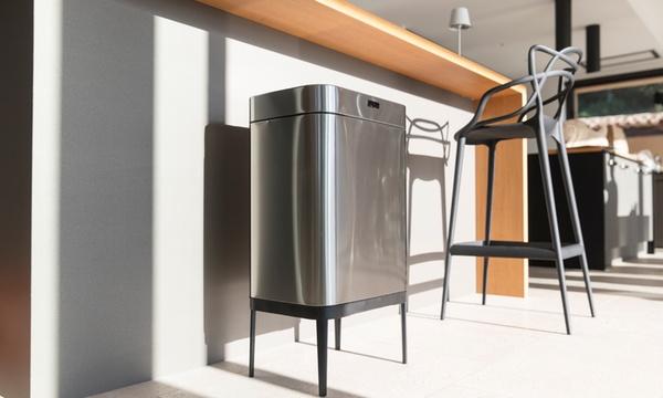 poubelle de cuisine automatique rectangulaire sur pied 60 l kitchen move