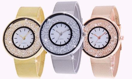 1 o 2 orologi Crystal Deluxe Be Jewels con cristalli Swarovski® disponibili in 3 colori