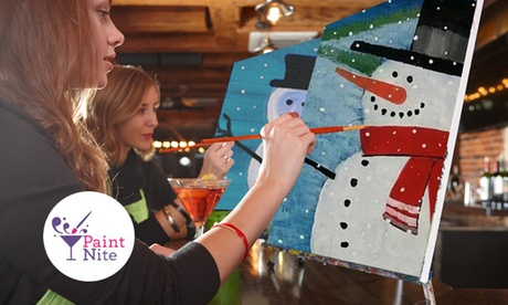 The Original Paint Nite at Local Bars (Up to 36% Off)